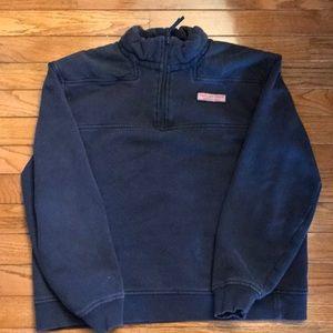 Vineyard Vines Boys 1/4 zip sweater, size xl